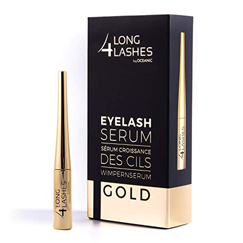 Long4Lashes GOLD 4 ml - Neues Exclusives Wimpernserum, hohe Kapazität - Serum...