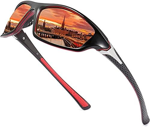 LHSDMOAT Herren Sportbrille Polarisierte Sonnenbrille Treiber Sonnenbrillen...