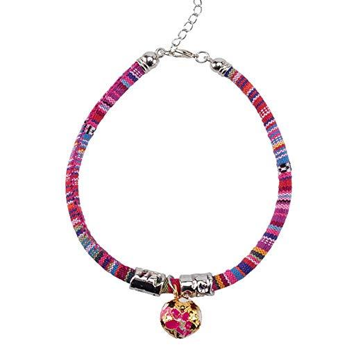 Janedream Haustier-Halsband mit Glöckchen, verstellbar, für Hunde und Katzen,...