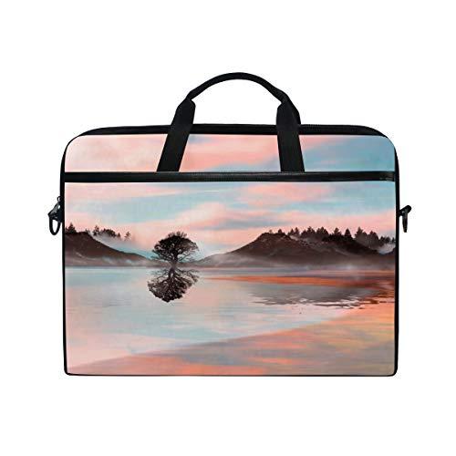 LOSNINA 15-15.4 inch Laptop Tasche,Schöne Landschaft der Illustration 3D...