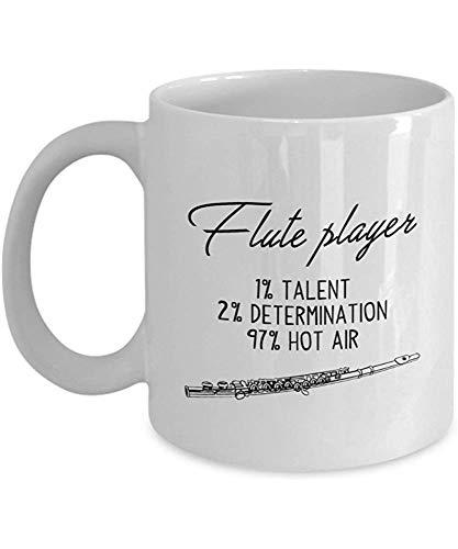 Flötenspieler 1% Talent,2% Entschlossenheit 97% Heißluft-Kaffeetasse,Weiß,11...
