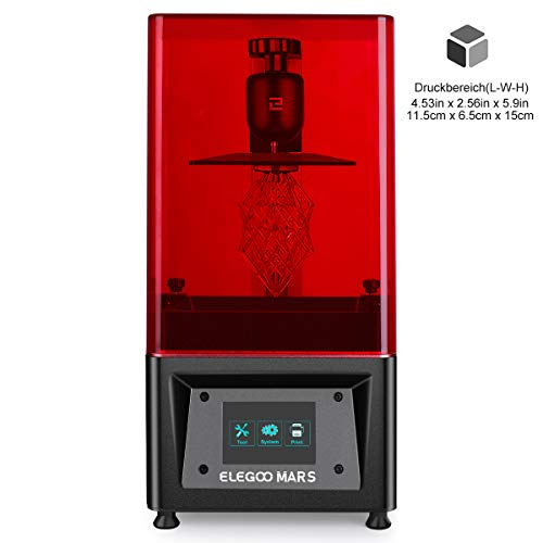ELEGOO MARS UV LCD 3D Drucker mit 3,5 Zoll Smart Farbtouchscreen Offline-Drucken...