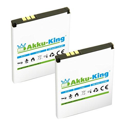 Akku-King 2X Akku kompatibel mit BD50, SNN5796A, 312BAT006 - Li-Ion 750mAh -...