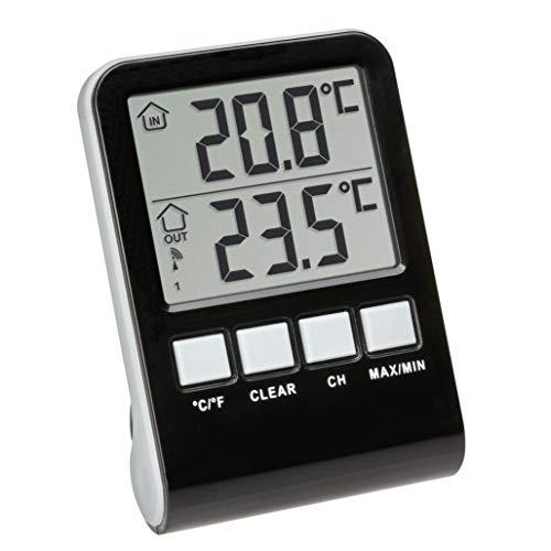 TFA Dostmann Palma Funk-Poolthermometer, anthrazit, L100 x B100 x H180 mm