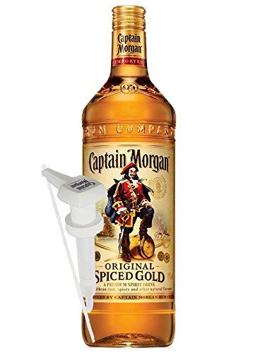 Captain Morgan Spiced Gold Jamaika 3,0 Liter + Dosierpumpe für 3,0 Liter...