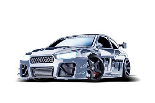 DR!FT Racer Silver V8 Sport ferngesteuertes Drift Auto, Rc Car mit realistischer...