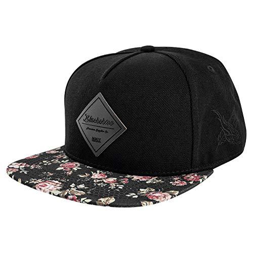 Blackskies Snapback Cap mit Stick oder Floralen Muster Unisex Baseball Mütze,...