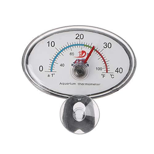 RG-FA Aquarium-Thermometer mit Zeiger für Aquarium, mit Saugnapf rot
