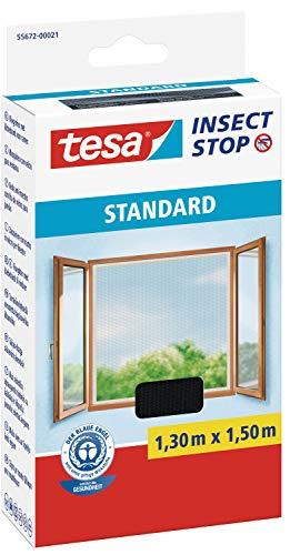 tesa Insect Stop STANDARD Fliegengitter für Fenster - Insektenschutz...