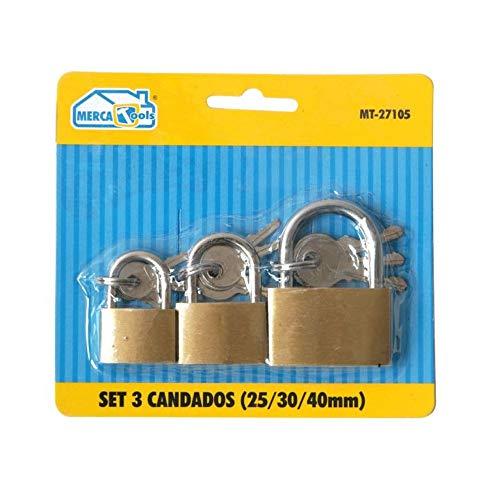 Set mit 3 Vorhängeschlössern   Sicherheitsschlösser für Zuhause   Maße: 25,...