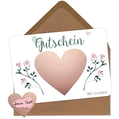 5 Rubbelkarten zum selber beschriften - Gutschein - Rubbellos für eigenen Text...