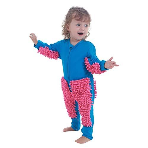 Baby Mädchen Jungen Krabbel-Strampler Langarm Baby Solid Mop Design Overall Gr....