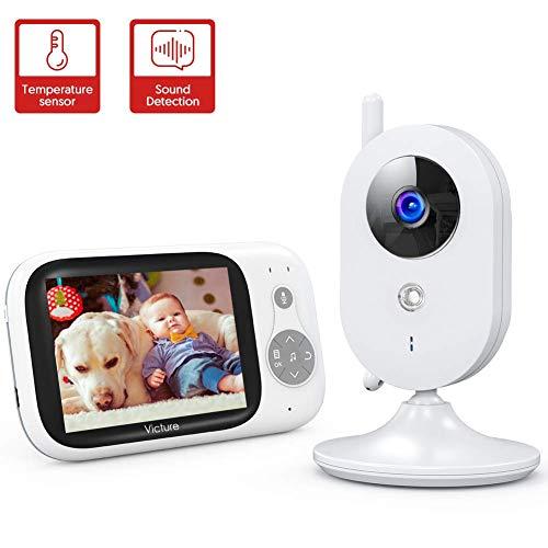 Victure 【2020 Upgraded】 Babyphone mit Kamera, Video Baby Monitor mit 3,2'...
