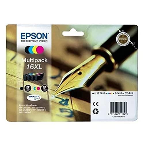 Epson Original 16 Tinte Füller, WF-2630WF WF-2650DWF WF-2660DWF WF-2750DWF...