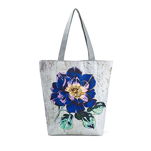 Btruely Taschen Damen National Wind Printed Canvas Tote Casual Strandtaschen...