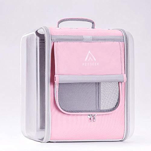 MISLD Atmungsaktive Transporttasche Transparente Transporttasche Hundeträger...