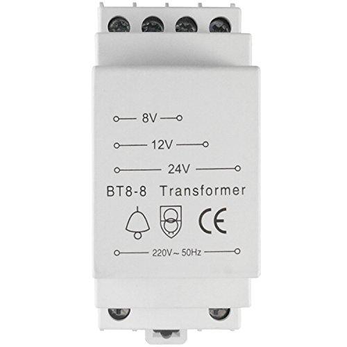 Evolution BT8-8 Klingeltrafo 8V 12V 24V / 8VA Trafo Klingeltransformator...
