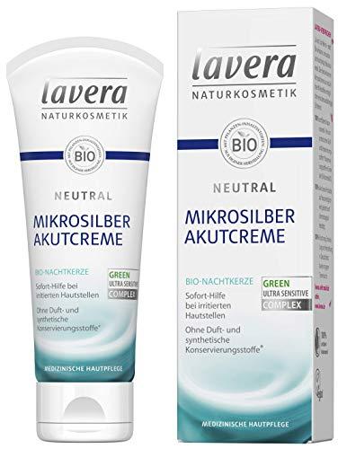 lavera Neutral Akutcreme mit Mikrosilber ∙ Bio Nachtkerze ∙ Sofortige Hilfe...