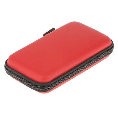 Shiwaki Elektronik Kabel Organisator Beutel USB Stick Speicherkarte HDD Fall Rot...