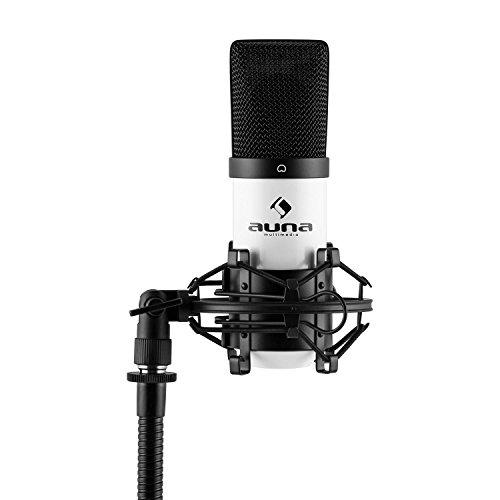 auna MIC-900WH - USB Kondensator-Mikrofon, 16 mm Kapsel, Nierencharakteristik,...