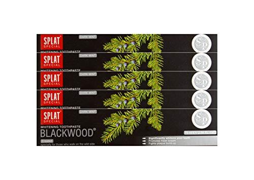 5x SPLAT BLACKWOOD fluoridfreie Kohle Zahnpasta blutstillend und...