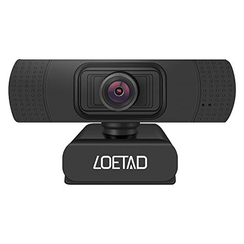 LOETAD Webcam, 1080P Full HD PC Kamera mit Mikrofon USB für Video Chat...