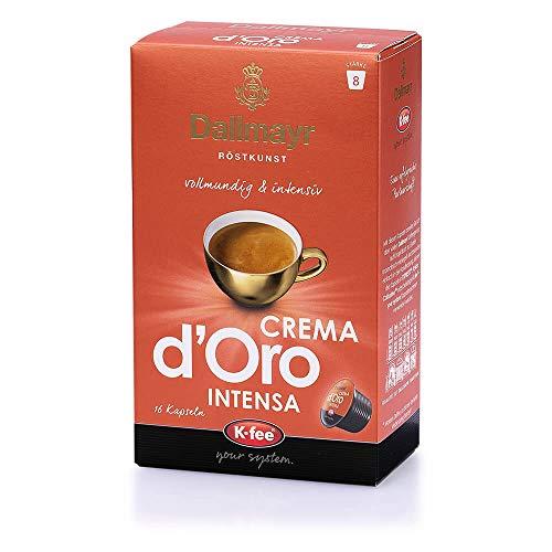 Dallmayr CREMA d'Oro INTENSA Kaffeekapseln, 96 Stück, kompatibel mit Tchibo...