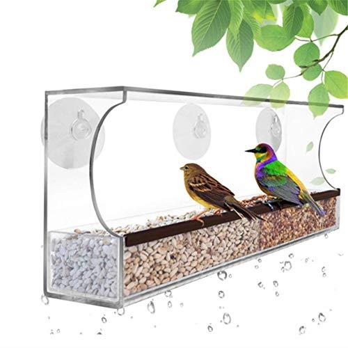 chunnron Futterhaus Für Vögel Vogelhaus Fenster Lagerung von Vogelfutter...