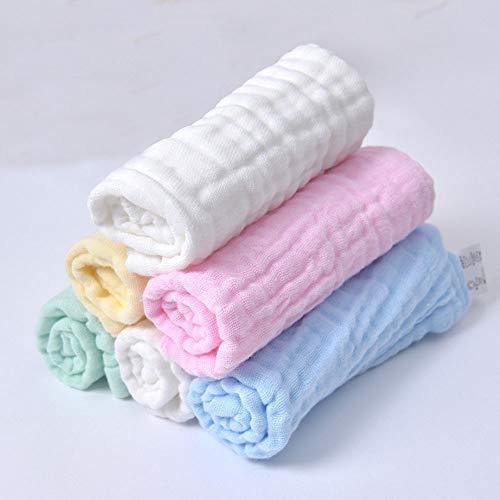 Baby Waschlappen Baby Musselin Waschlappen Baby-Feuchttücher 100% Baumwolle...