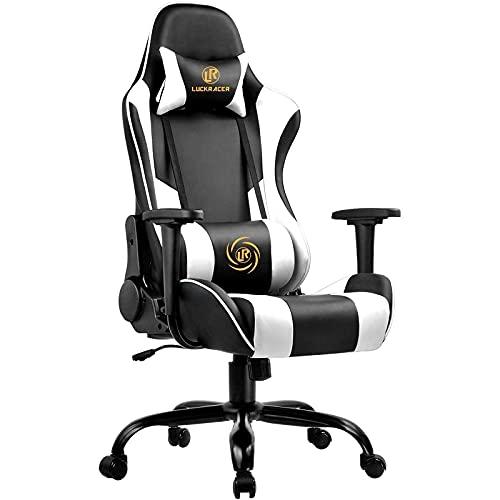 LUCKRACER Gaming Stuhl Bürostuhl Gamer Ergonomischer Stuhl die erneuerten...
