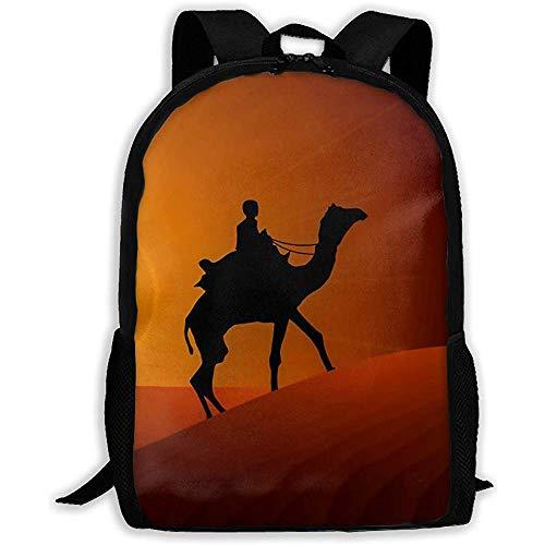 Lmtt Rucksack Camel Desert Bookbag Lässige Reisetasche Für Teen Boys Girls