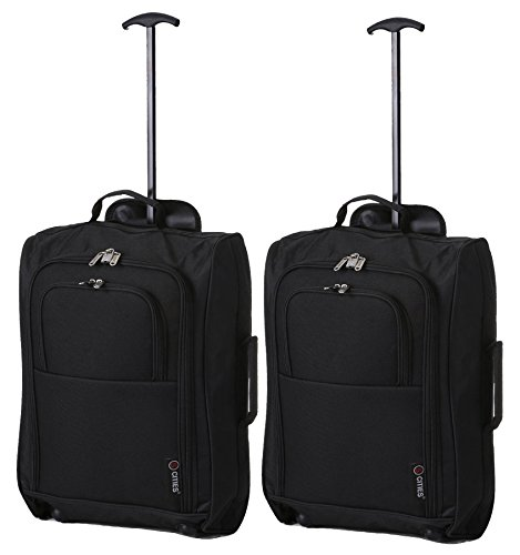 5 Cities The Valencia Collection Handgepäck Set of 2 TB023-830 Black, 55 cm, 42...