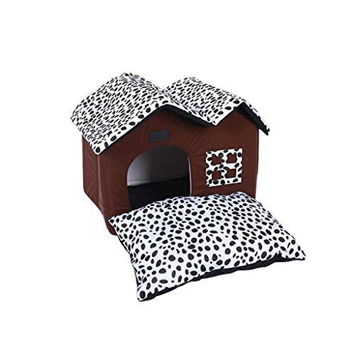 Haustier-Nest Kennel Spot Doppel-Top-Pet House Kennel Teddy House Hundematte...
