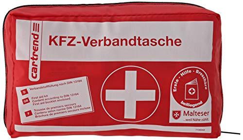 Cartrend 7730042 Verbandtasche rot, DIN 13164, mit Malteser...