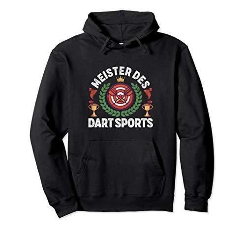 Meister Des Dart Sports mit Dartscheibe und Dartpfeile Pullover Hoodie