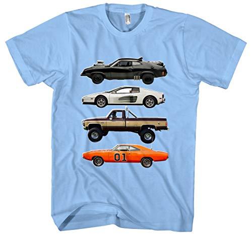 Kult Cars Herren T-Shirt   Knight Rider Shirt - A-Team Van - zurück in die...
