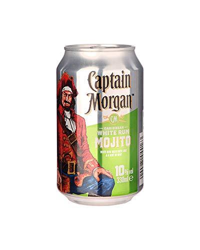 Captain Morgan White Rum Mojito Mixgetränk mit Weißem Rum, Limetten- und...