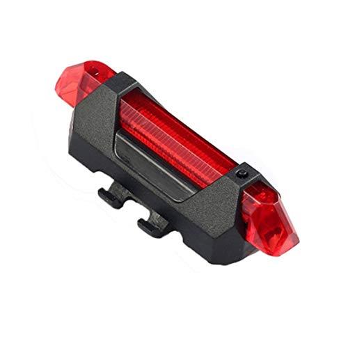 Kaemma Tragbare USB aufladbare Rücklicht Fahrrad LED Fahrrad Schwanz hinten...