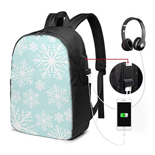 Laptop Rucksack Business Rucksack für 17 Zoll Laptop, EIS Winter Schneeflocken...