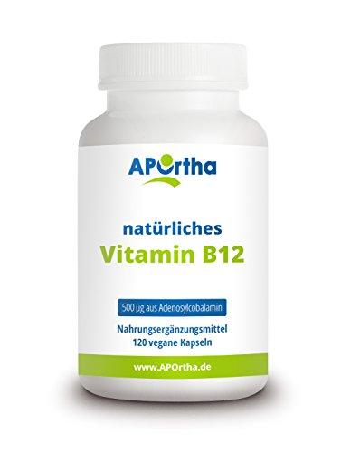 APOrtha® aktiviertes Vitamin B12 I 120 vegane Kapseln mit B12 Vitamin I...