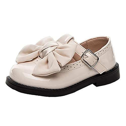 Kinder Prinzessin Schuhe Bequeme atmungsaktive niedliche Bowknot Leder Flats...