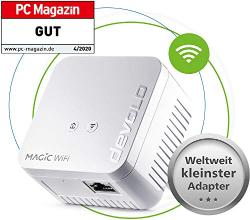 devolo Magic 1 WiFi mini: Ideal für Home Office und Streaming, Erweiterungs...