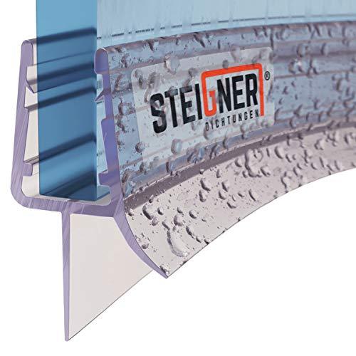 STEIGNER Duschdichtung, 40cm, Glasstärke 3,5/4/ 5 mm, Vorgebogene PVC...