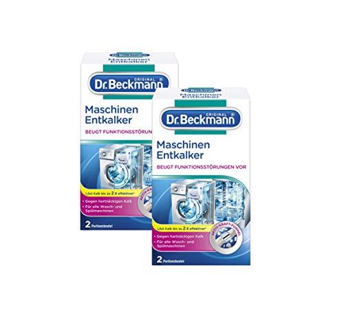 Dr. Beckmann Maschinen Entkalker 2 x 50g - Gegen hartnäckigen Kalk (2er Pack)