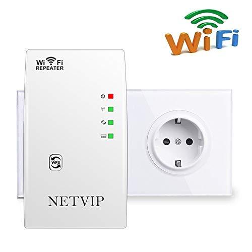 NETVIP WLAN Verstärker Netz Wireless WLAN Repeater 300Mbps/ 2.4GHz WLAN Range...