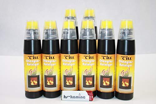 ** Set** Till Kaminglas Reiniger 8 Flaschen a. 200ml Gel mit Bürste