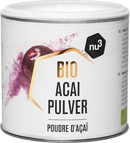 nu3 Bio Acai-Beeren Pulver - 65g Dose - passt in Smoothies, Bowls &...