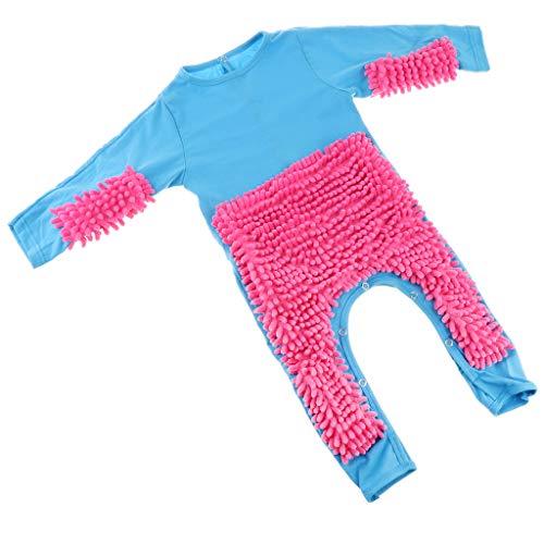 Fenteer Baby Kleidung Wischmop Strampler Reinigungsmop Overall Mädchen Jungen...