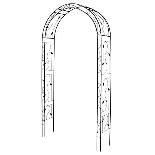 SONLEX Eleganter Rosenbogen aus Metall im Weinblatt-Design für Kletterpflanzen...