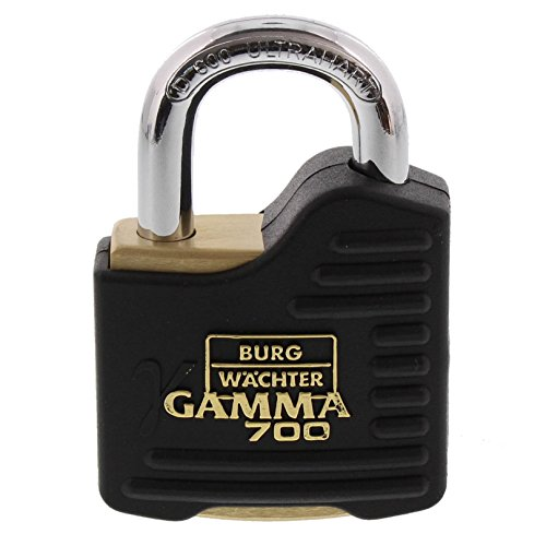 BURG-WÄCHTER Vorhängeschloss mit Schlüssel (Bügelstärke: 9 mm, Stahlbügel)...